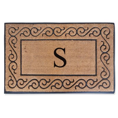 First Impression Monogrammed Double Doormat Letter: S