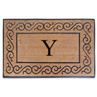 First Impression Monogrammed Double Doormat Letter: Y