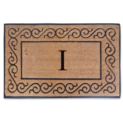 First Impression Monogrammed Double Doormat Letter: I