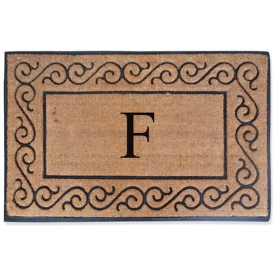 First Impression Monogrammed Double Doormat Letter: F