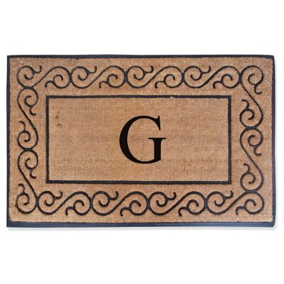First Impression Monogrammed Double Doormat Letter: G