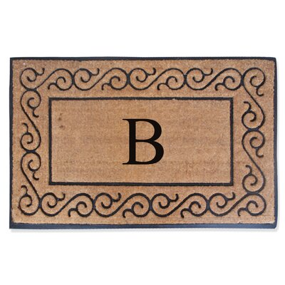 First Impression Monogrammed Double Doormat Letter: B