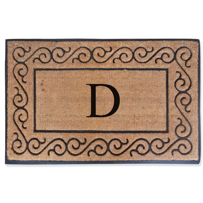 First Impression Monogrammed Double Doormat Letter: D
