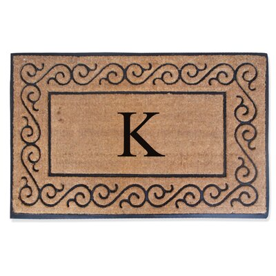 First Impression Monogrammed Double Doormat Letter: K