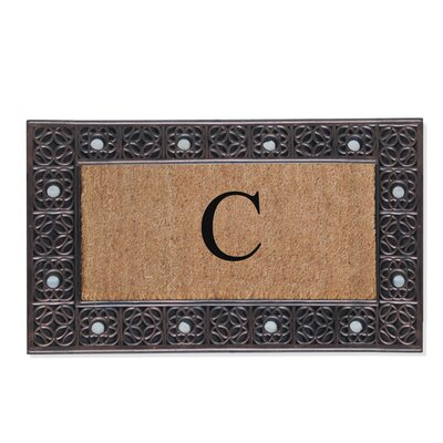 First Impression Rubber and Coir Doormat Letter: C