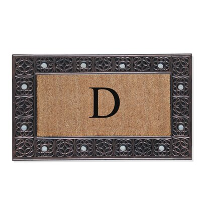 First Impression Rubber and Coir Doormat Letter: D