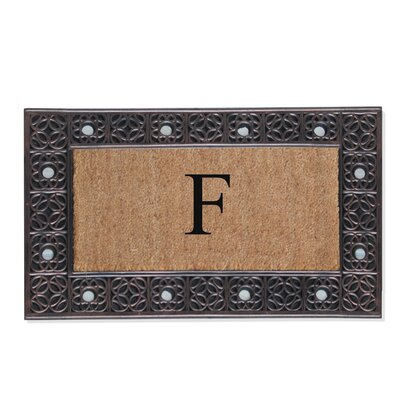 First Impression Rubber and Coir Doormat Letter: F