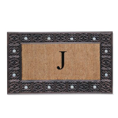First Impression Rubber and Coir Doormat Letter: J