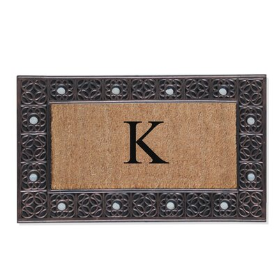 First Impression Rubber and Coir Doormat Letter: K