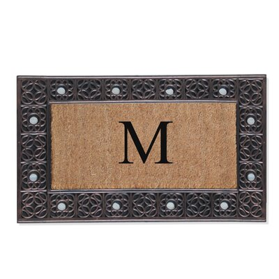 First Impression Rubber and Coir Doormat Letter: M