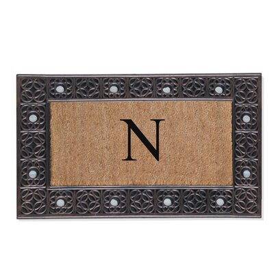 First Impression Rubber and Coir Doormat Letter: N