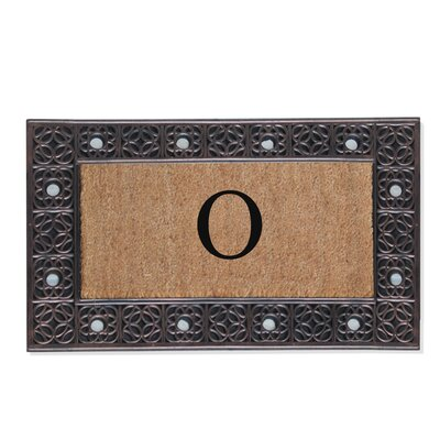 First Impression Rubber and Coir Doormat Letter: O