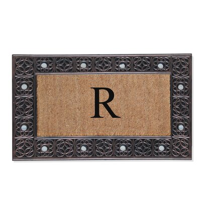 First Impression Rubber and Coir Doormat Letter: R