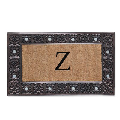 First Impression Rubber and Coir Doormat Letter: Z
