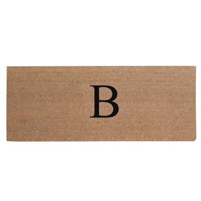 First Impression Plain Coir Doormat Letter: B