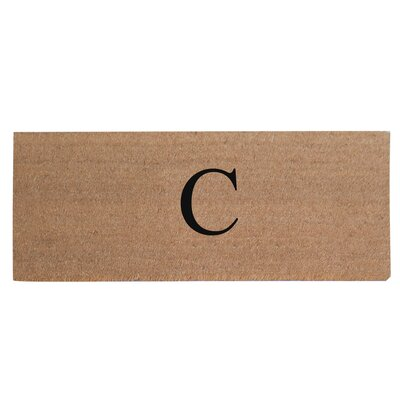 First Impression Plain Coir Doormat Letter: C