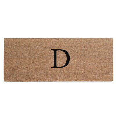 First Impression Plain Coir Doormat Letter: D