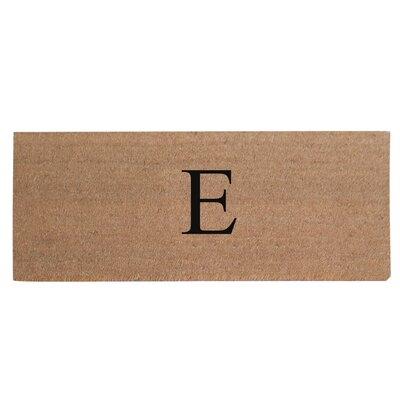 First Impression Plain Coir Doormat Letter: E