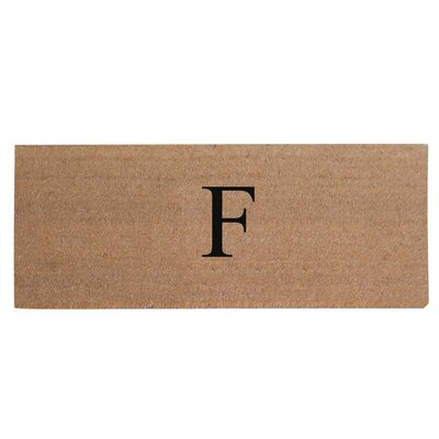 First Impression Plain Coir Doormat Letter: F