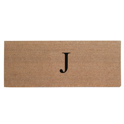 First Impression Plain Coir Doormat Letter: J
