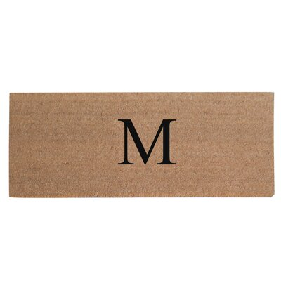 First Impression Plain Coir Doormat Letter: M