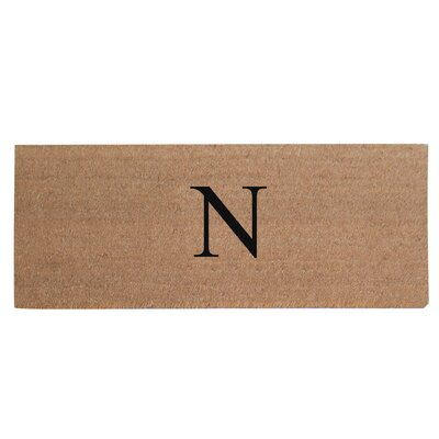 First Impression Plain Coir Doormat Letter: N