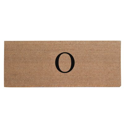 First Impression Plain Coir Doormat Letter: O