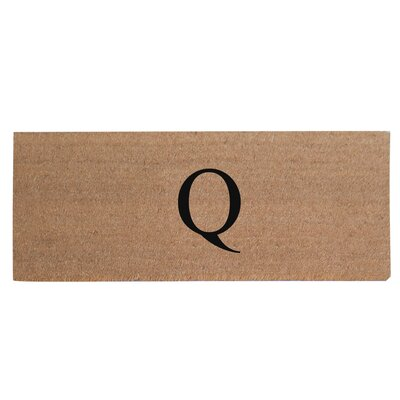 First Impression Plain Coir Doormat Letter: Q