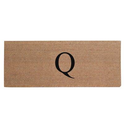 First Impression Plain Coir Doormat Letter: Q