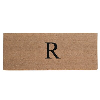 First Impression Plain Coir Doormat Letter: R