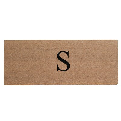 First Impression Plain Coir Doormat Letter: S