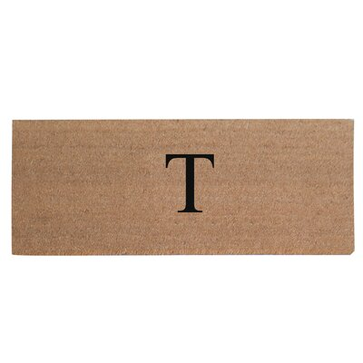 First Impression Plain Coir Doormat Letter: T