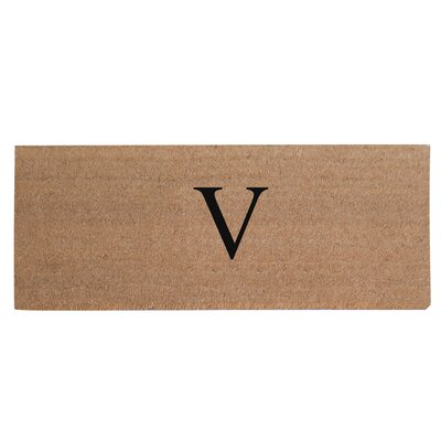 First Impression Plain Coir Doormat Letter: V