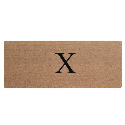 First Impression Plain Coir Doormat Letter: X