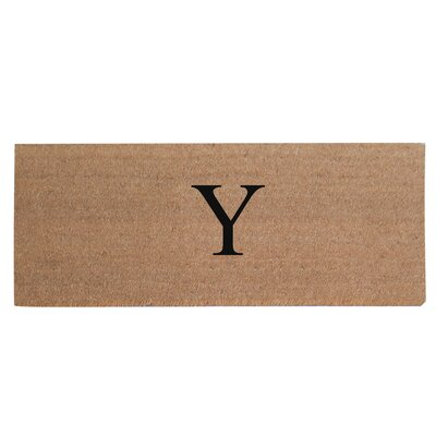 First Impression Plain Coir Doormat Letter: Y