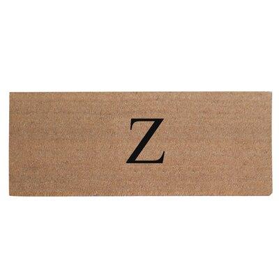 First Impression Plain Coir Doormat Letter: Z