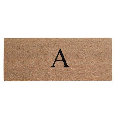 First Impression Plain Coir Doormat Letter: A