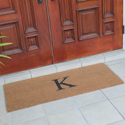 First Impression Plain Coir Doormat Letter: K