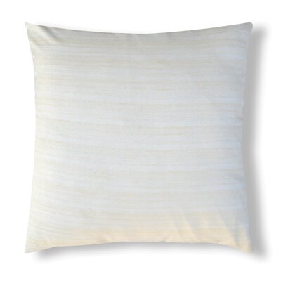 Handcrafted Organza Throw Pillow Color: Off White