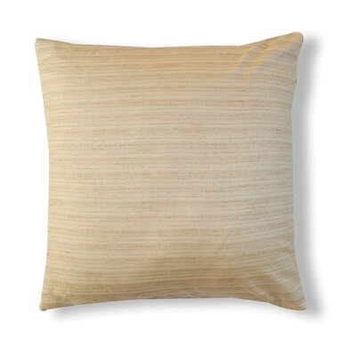 Handcrafted Organza Throw Pillow Color: Stone White Beige
