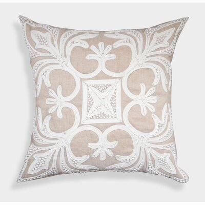 Decorative Organza French Knot Linen Throw Pillow