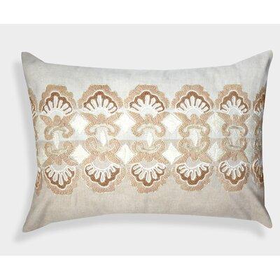 Decorative Organza Hand Embroidered Linen Lumbar Pillow
