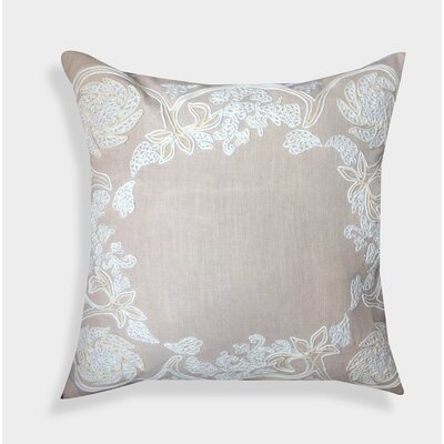 Organza Hand Embroidered Cotton Throw Pillow