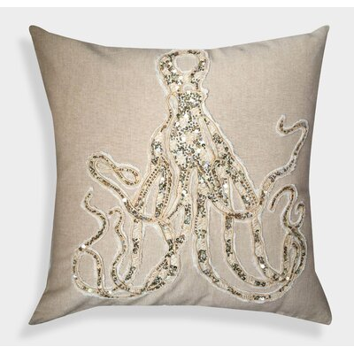 Decorative Organza Handcrafted Octopus Cotton Throw Pillow