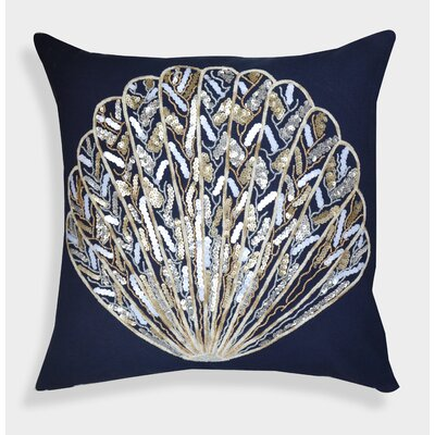 Organza Sequin Shell Decorative Cotton Throw Pillow