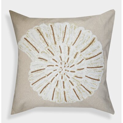 Decorative Organza Handcrafted Shell Costal Cotton Throw Pillow