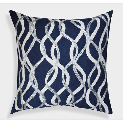 Organza Handembroidered Cotton Throw Pillow