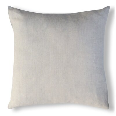 Solid Organzza Linen Throw Pillow Color: Off White