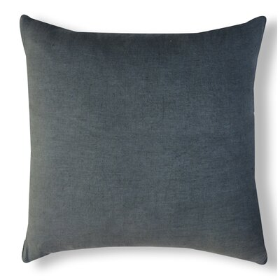 Solid Organzza Linen Throw Pillow Color: Gray