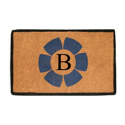 First Impression Floella Monogrammed Doormat Letter: B